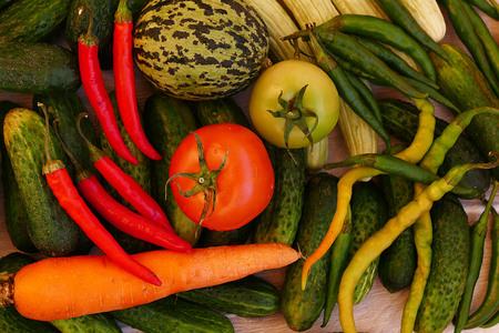 all kinds of vegetables to make natural pickles