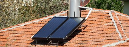 hot water with solar energy system, hot water systems on roofs,