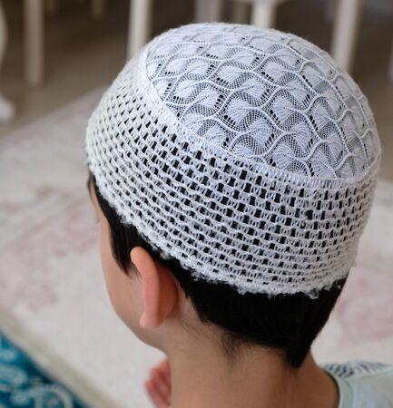 Muslim worship hat, head-worn skullcap,