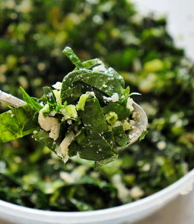 spinach and cheese mixture to make pastries, Stock fotó