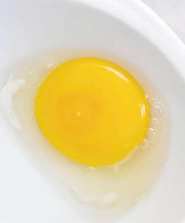 embryo in the egg albumen and yolk, organic eggs, Stock fotó