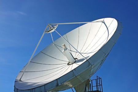 white communication satellite