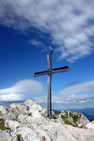 crucifix on the top of the mountain