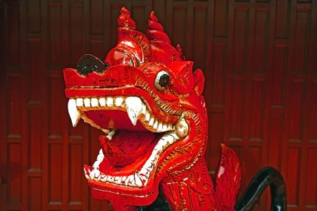 chinese red dragon photo