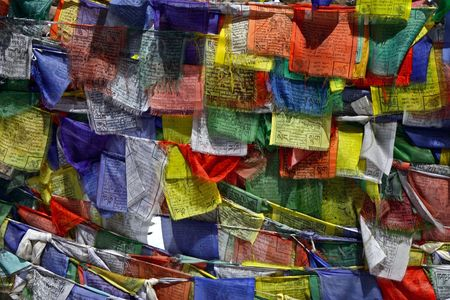 buddhist prayer flags photo