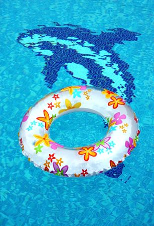 ring in swimming pool photo