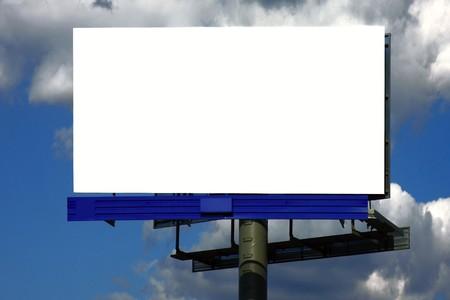 空白の屋外ビルボード