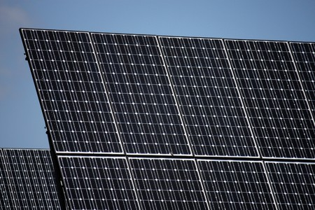 pv: PV solar panels under sky