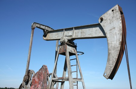 oil well in Central Europe  under blue sky photo