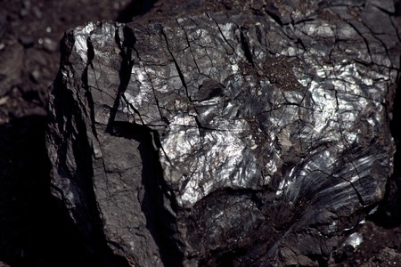 coal mine: detail of coal structure