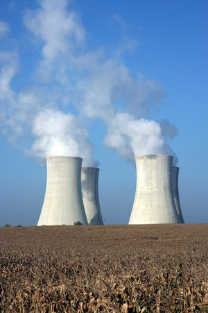 four cooling towers of nuclear power plant Stock Photo - 8247827
