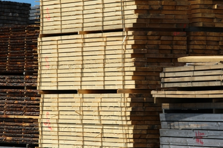 lumber industry: cut in stock construction wooden plank