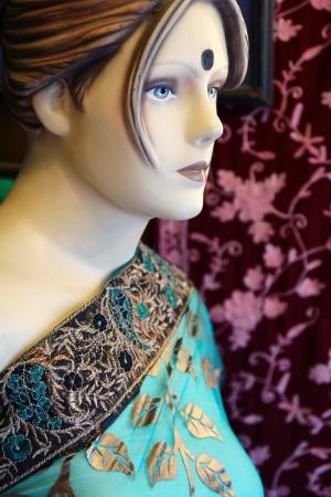 nice indian wooden dummy fashion dressed photo