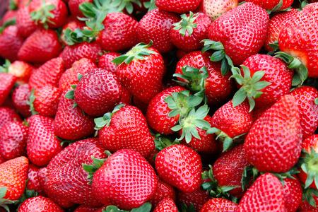 그룹 딸기의 세부 사항 스톡 콘텐츠
