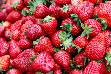 Detail of strawberry in group Stockfoto