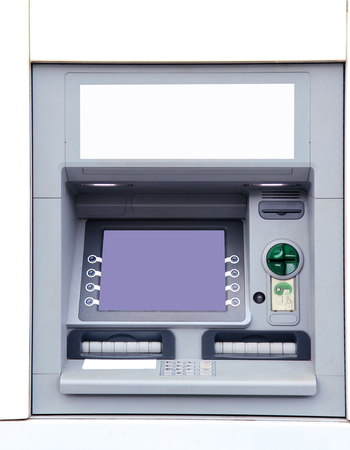 detail of atm machine