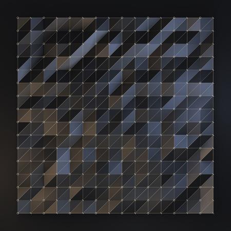 clipart wrinkles: Polygonal fashion background, triangular black wave