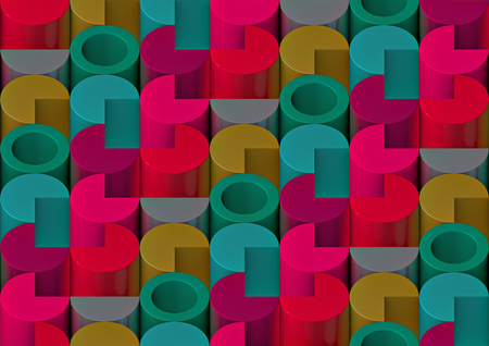 cylinders: 3d pattern of the cylinders
