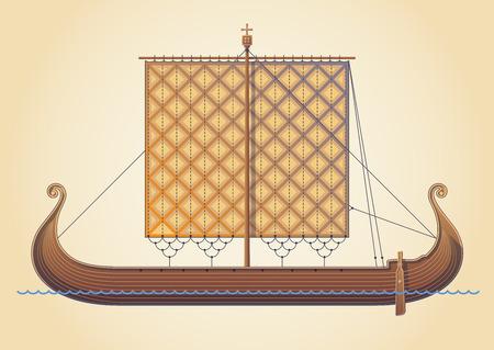 scandinavian: Old Scandinavian ship. Viking ship