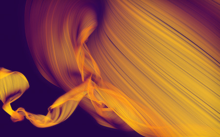 fluttering: Abstract fabric fluttering in the wind on dark background