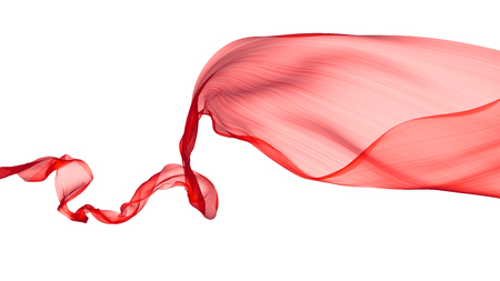 Abstract flowing red fabric