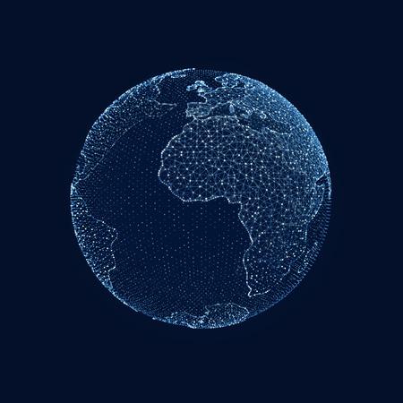 Digital planet earth. Global Internet network