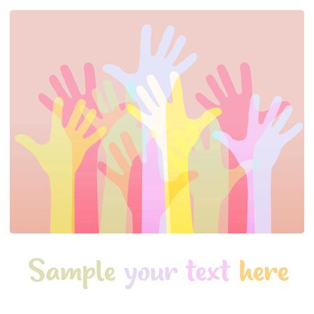 Light colorful up hand background, vector illustration