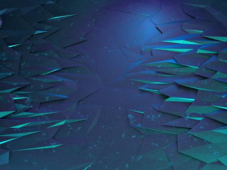 Fantastic background ice caves. 3d render