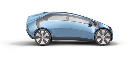 3d model concept car on white background 版權商用圖片
