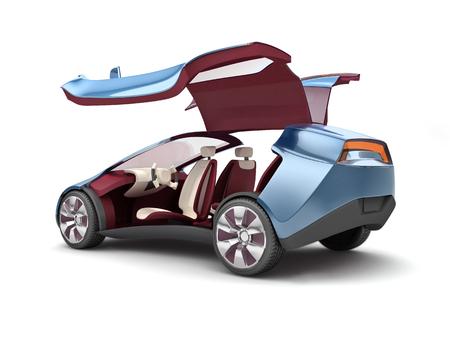 Electric concept car 版權商用圖片