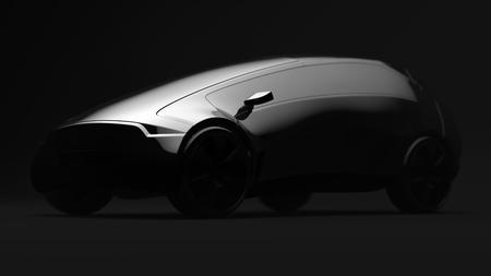 Original design car on black background 版權商用圖片