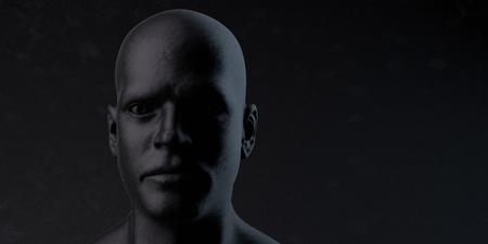 Black man head 版權商用圖片 - 81961668