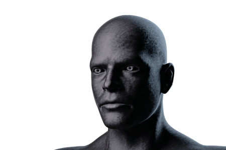 3d render illustration of a human head