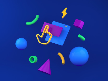 3d illustration for web design, interface web site