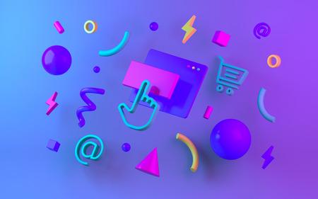 Bright multicolor geometric shapes
