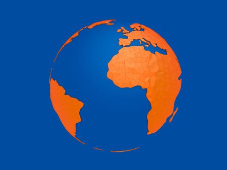 World planet, 3d earth sphere illustration 版權商用圖片 - 120994656