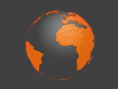 World planet, 3d earth sphere illustration 版權商用圖片 - 120994663