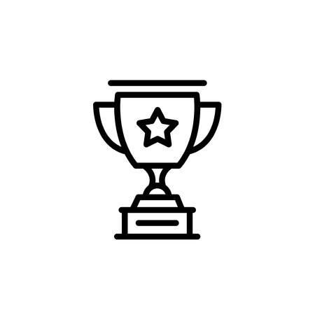 Black icon line trophy cup, vector illustration 向量圖像