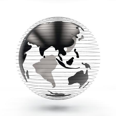 3d rendering futuristic Globe view asia and Australia