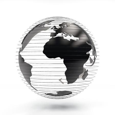 3d rendering futuristic Globe view frica, europe, 版權商用圖片