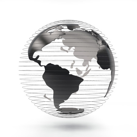 3d rendering futuristic Globe view north america 版權商用圖片