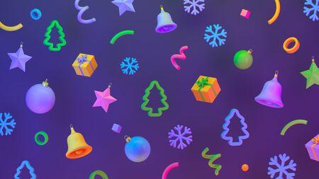 Christmas pattern, Festive background Reklamní fotografie