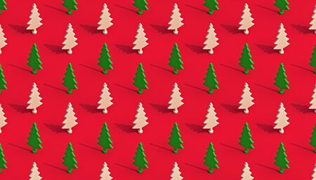 Minimalist isometric winter pattern, 3d render
