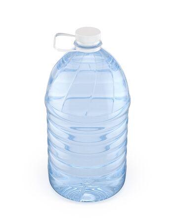 5L plastic bottle with white cap, 3d illustration Reklamní fotografie