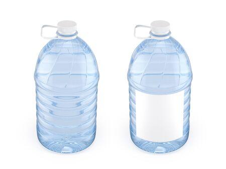 Two 5L plastic bottles with white cap, 3d illustration Reklamní fotografie