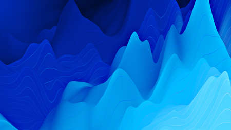 Abstract digital background with dynamic waves, line. 3d illustration suitable for design