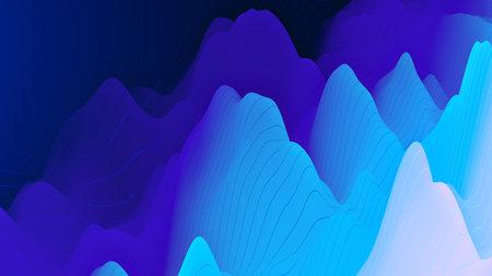 Digital background with dynamic waves, line. 3d illustration suitable for design Reklamní fotografie