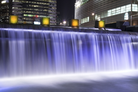 waterfall of Cheonggyecheon, Seoul