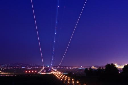 landing light: Trail of landing