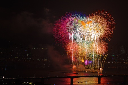 Fireworks at Seoul River